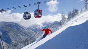Poza ski in Carpati